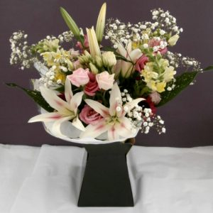 Blush pink bouquet by Shrinking Violet