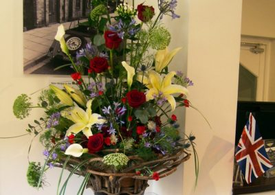 Flowers for HRH Prince of Wales at Morgan Cars