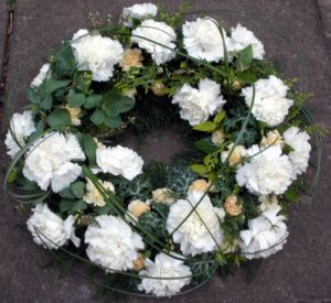 White wreath by Shrinking Violet