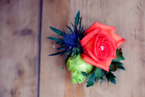 Wedding buttonhole by Shrinking Violet