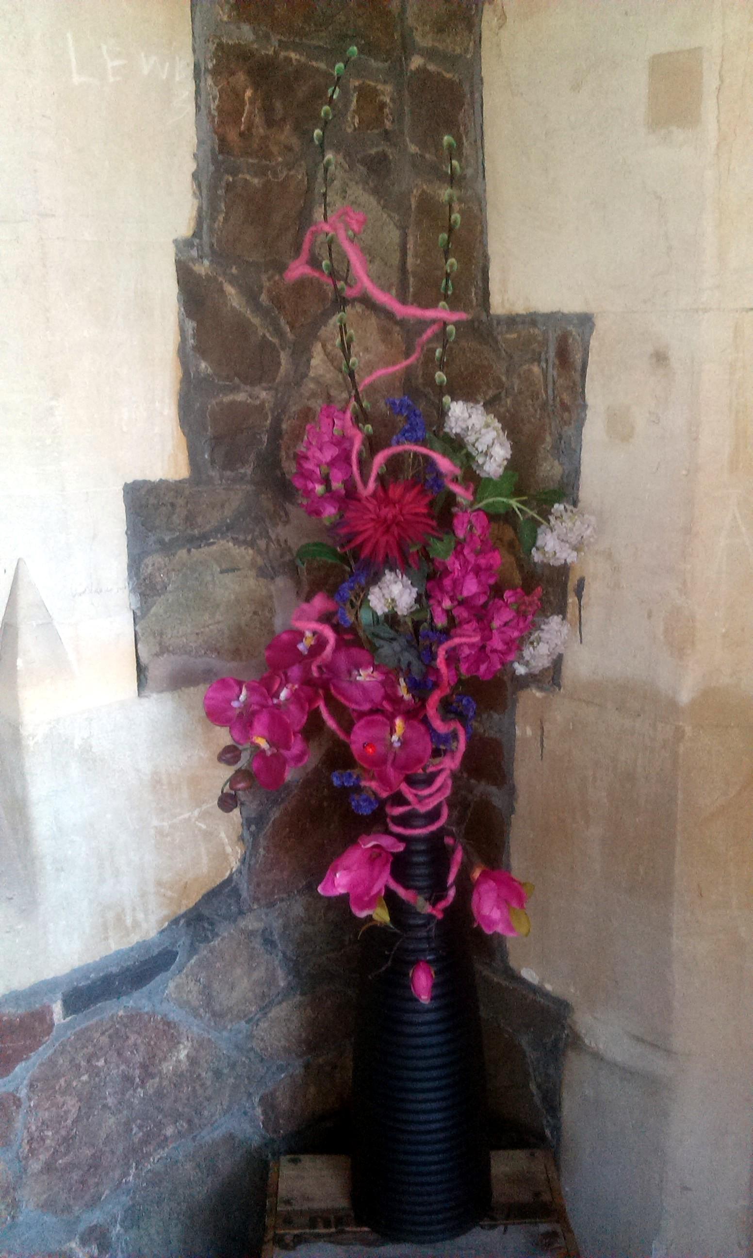 Tall Shocking Pink In Vase Shrinking Violet Bespoke Floristry
