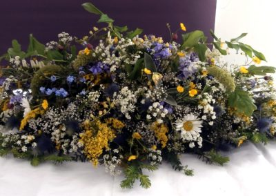 Wild-flowers casket spray