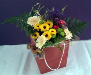 Bagged bouquet by Shrinking Violet