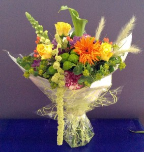Medium cheerful bouquet by Shrinking Violet