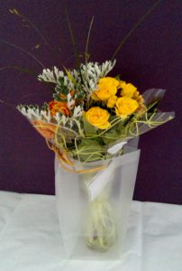 Yellow and orange bouquet by Shrinking Violet