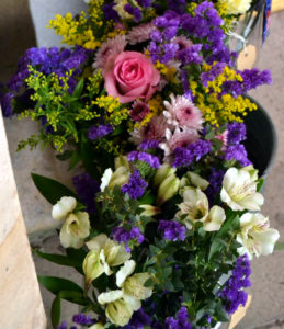 Buckets of flowers by Shrinking Violet