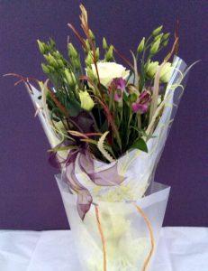 Elegant pastel bouquet by Shrinking Violet