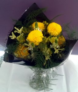 Bright yellow bouquet by Shrinking Violet