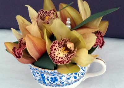 Orchid teacup design