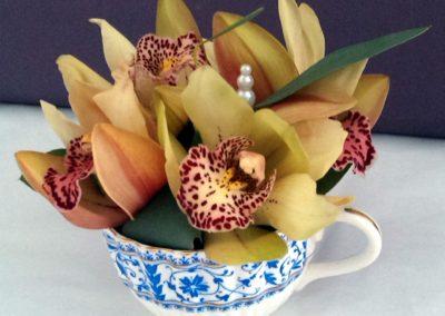 Orchid teacup design by Shrinking Violet