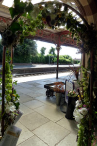 Copper garden archway used for Malvern in Bloom