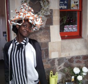 Modelling the ticket hat by Shrinking Violet