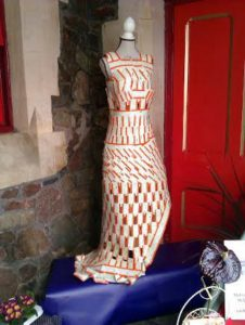 Ticket dress on display at Great Malvern
