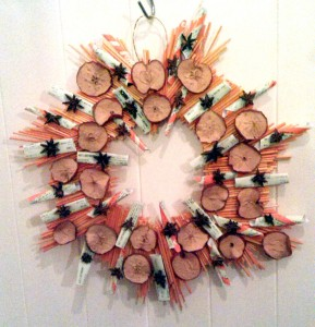 Indoor ticket wreath