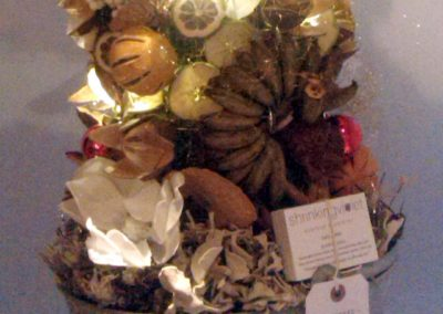 Dried Fruit and Vegetable Christmas Tree