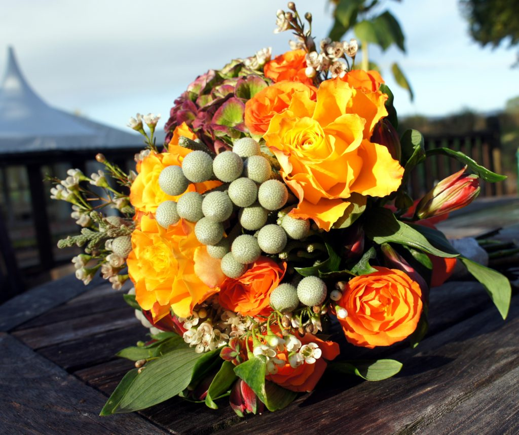 Autumn wedding bouquet form shrinking violet bespoke floristry